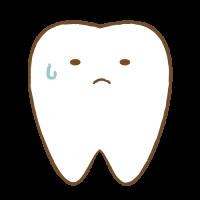 歯のイラスト_不安な表情